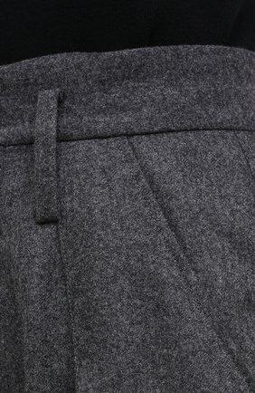 Женские шерстяные брюки ISABEL MARANT темно-серого цвета, арт. PA1823-20H026I/RAC0MISL | Фото 5