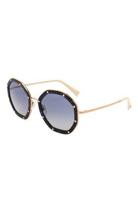 Женские солнцезащитные очки valentino garavani VALENTINO синего цвета, арт. 2042-30044L | Фото 1