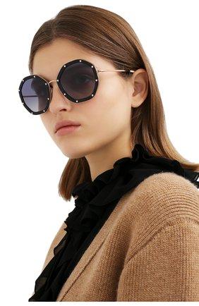 Женские солнцезащитные очки valentino garavani VALENTINO синего цвета, арт. 2042-30044L | Фото 2