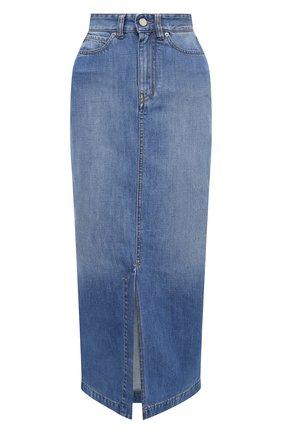 Женская джинсовая юбка VICTORIA, VICTORIA BECKHAM голубого цвета, арт. 2420DSK002098A | Фото 1