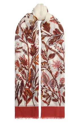 Женская шаль из кашемира и шелка LORO PIANA оранжевого цвета, арт. FAL3853 | Фото 1