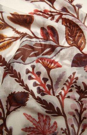 Женская шаль из кашемира и шелка LORO PIANA оранжевого цвета, арт. FAL3853 | Фото 2