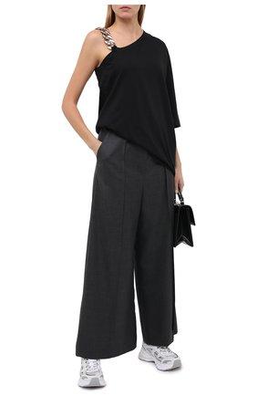 Женская хлопковая футболка N21 черного цвета, арт. 20I N2S0/F071/4157 | Фото 2