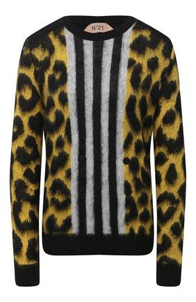 Женский шерстяной пуловер N21 желтого цвета, арт. 20I N2M0/A026/7268 | Фото 1
