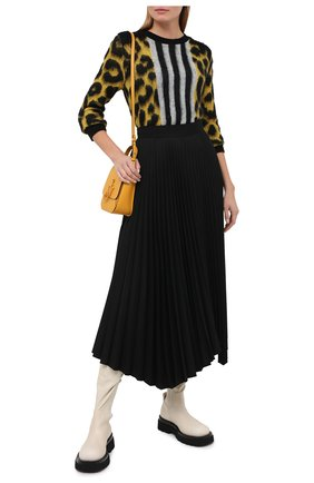 Женский шерстяной пуловер N21 желтого цвета, арт. 20I N2M0/A026/7268 | Фото 2
