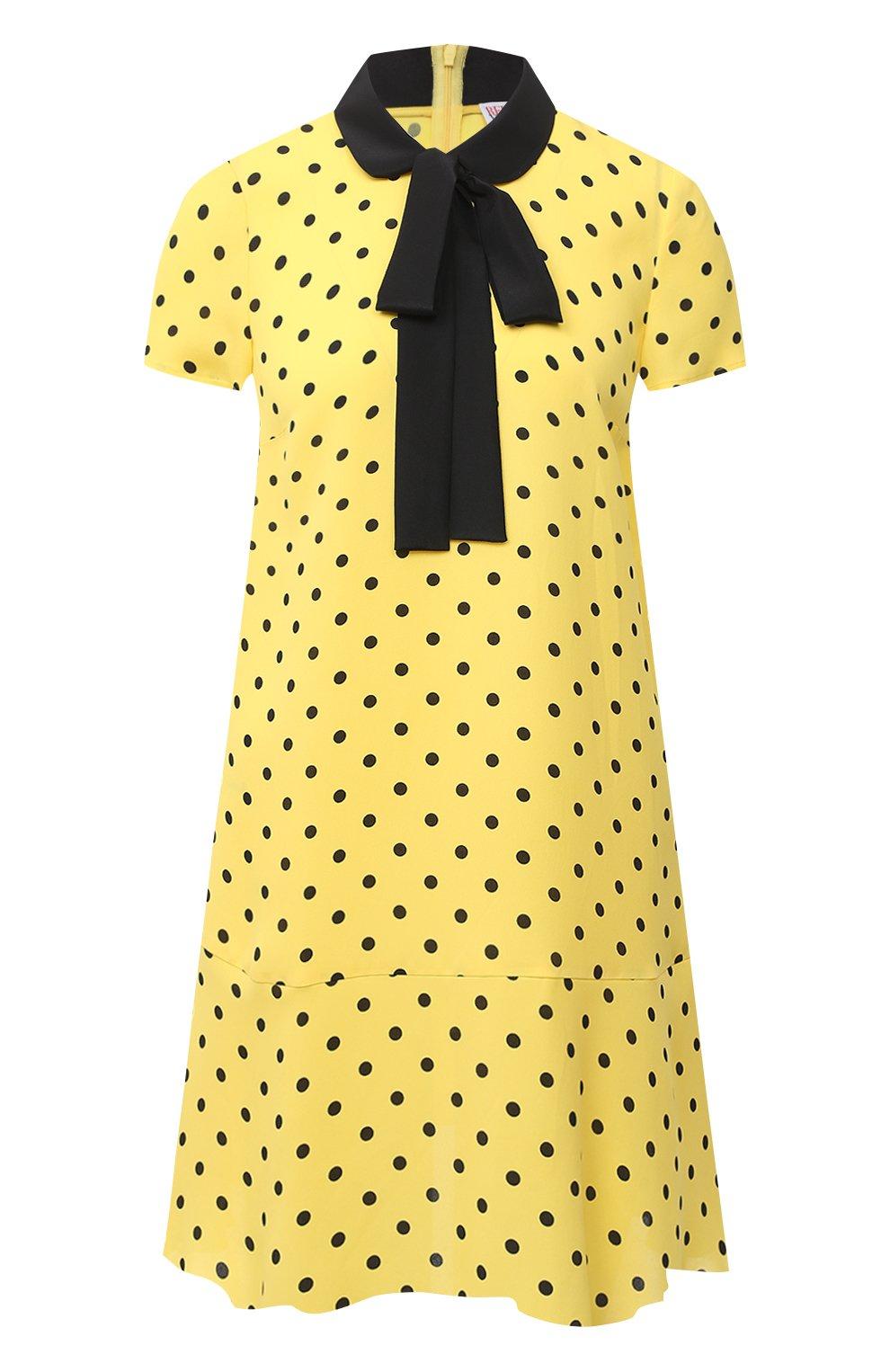 Женское платье из вискозы REDVALENTINO желтого цвета, арт. UR0VAF05/5L7   Фото 1