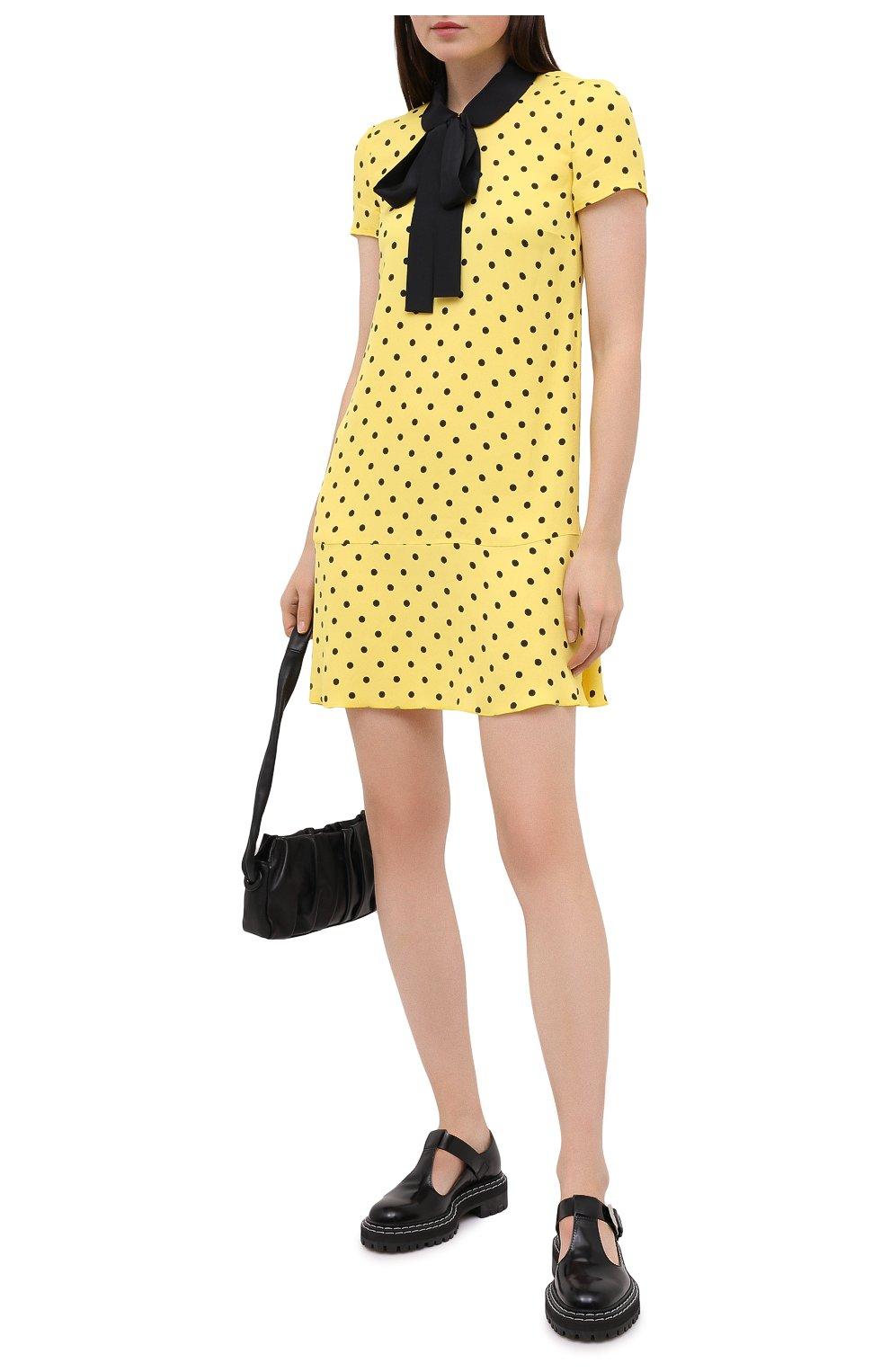 Женское платье из вискозы REDVALENTINO желтого цвета, арт. UR0VAF05/5L7   Фото 2