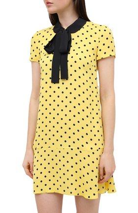 Женское платье из вискозы REDVALENTINO желтого цвета, арт. UR0VAF05/5L7   Фото 3