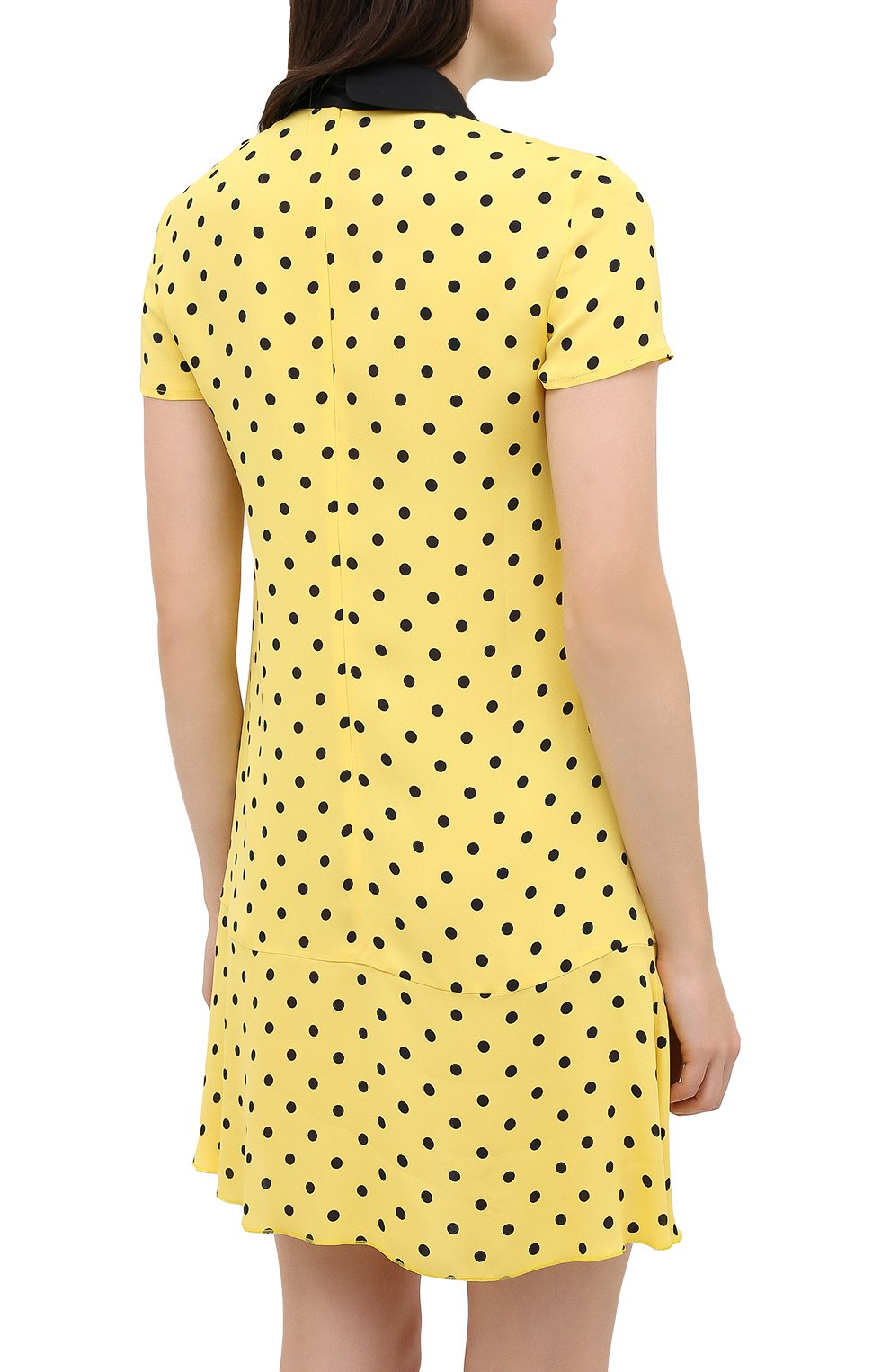 Женское платье из вискозы REDVALENTINO желтого цвета, арт. UR0VAF05/5L7   Фото 4
