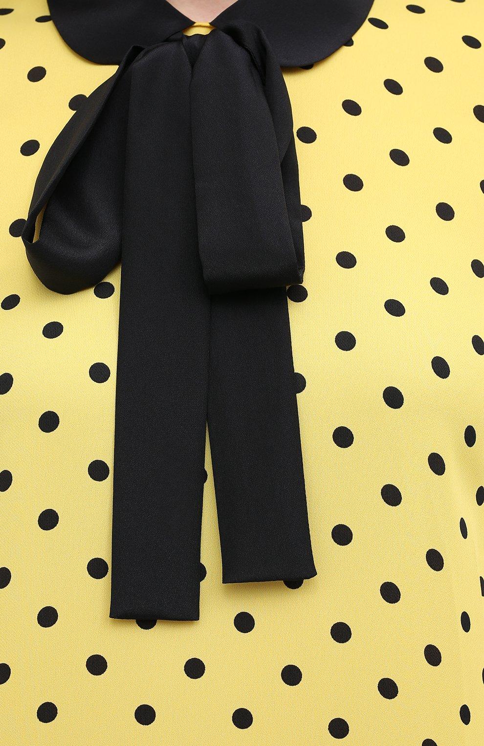 Женское платье из вискозы REDVALENTINO желтого цвета, арт. UR0VAF05/5L7   Фото 5