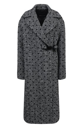 Женское пальто ERMANNO ERMANNO SCERVINO серого цвета, арт. 47T CP14 REF | Фото 1