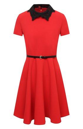 Женское платье ERMANNO ERMANNO SCERVINO красного цвета, арт. 47T AB57 CRE   Фото 1