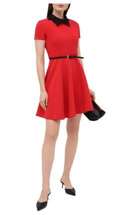Женское платье ERMANNO ERMANNO SCERVINO красного цвета, арт. 47T AB57 CRE   Фото 2