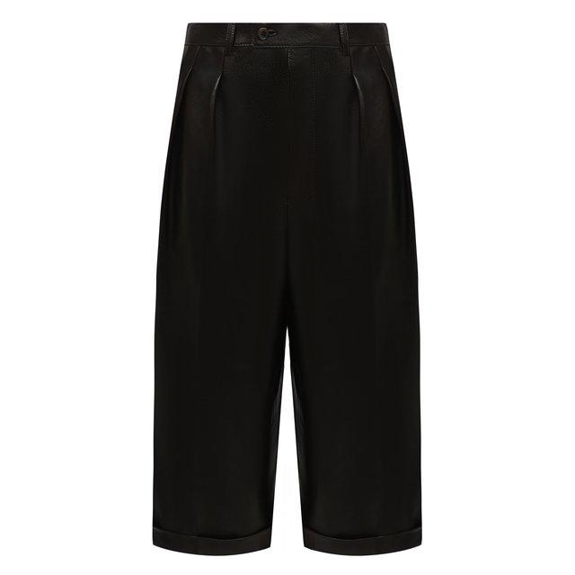 Кожаные шорты Saint Laurent