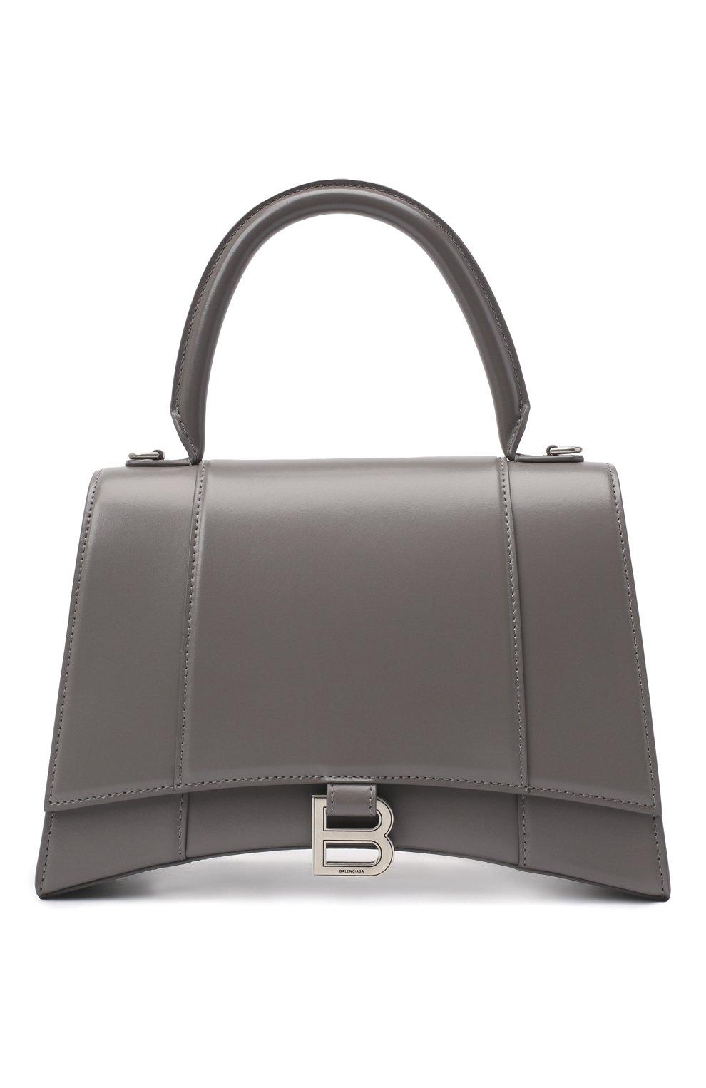 Женская сумка hourglass BALENCIAGA серого цвета, арт. 619668/1QJ4Y | Фото 1