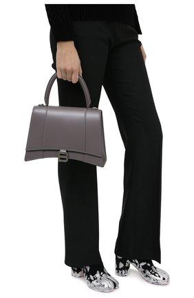 Женская сумка hourglass BALENCIAGA серого цвета, арт. 619668/1QJ4Y | Фото 2