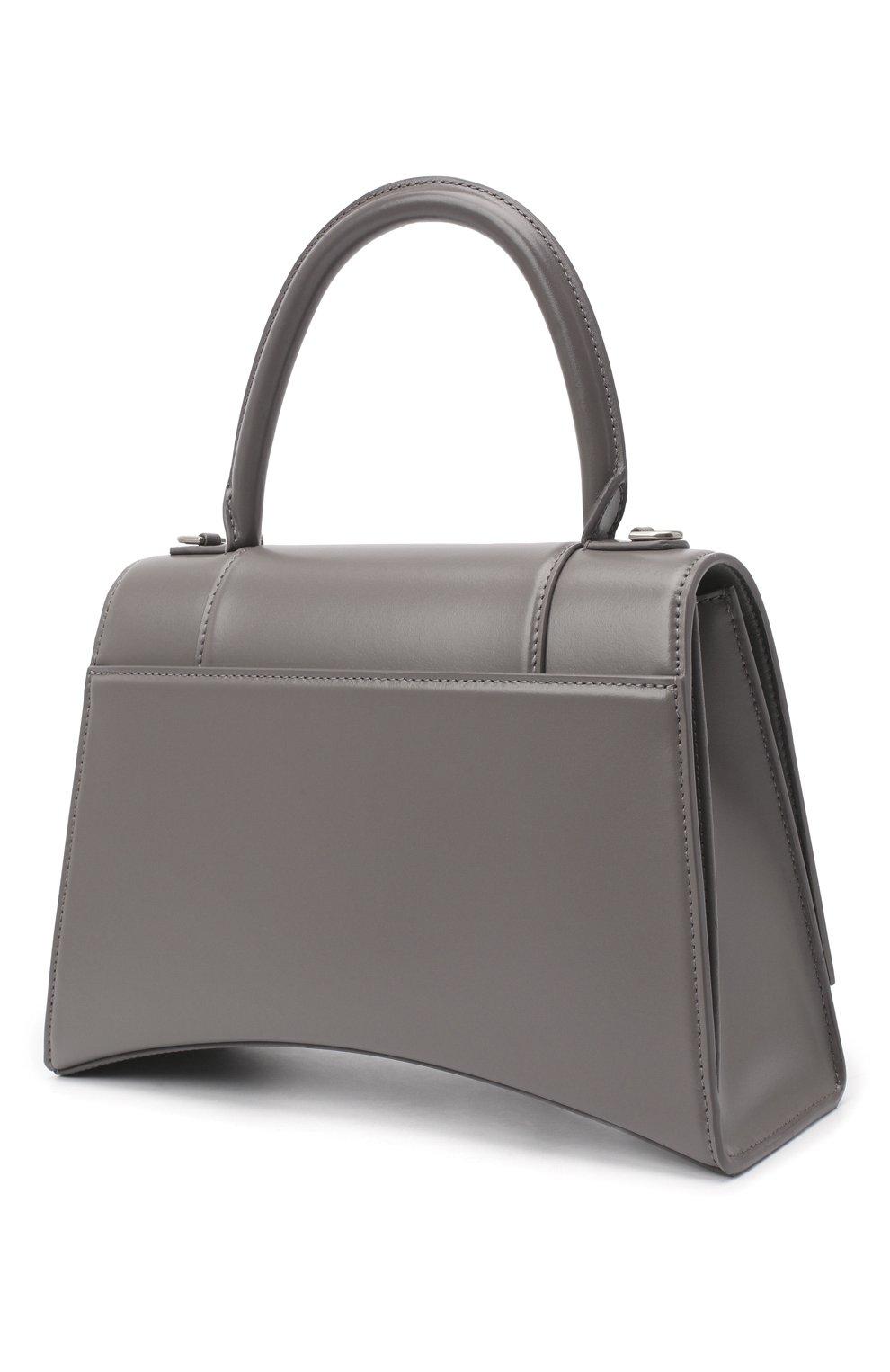 Женская сумка hourglass BALENCIAGA серого цвета, арт. 619668/1QJ4Y | Фото 3