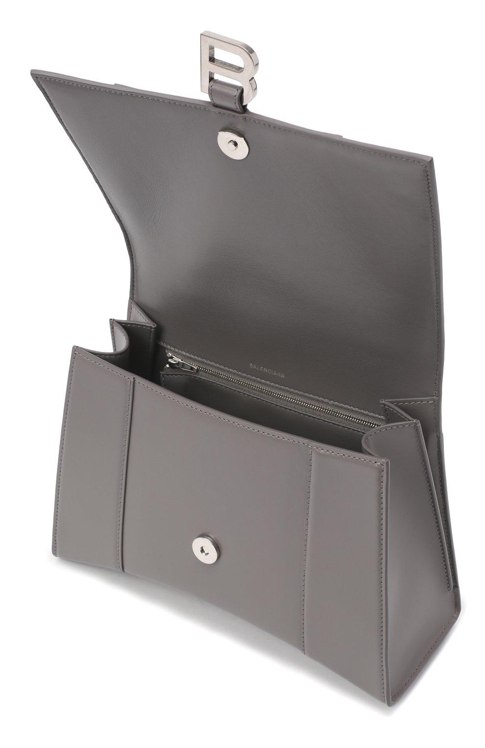 Женская сумка hourglass BALENCIAGA серого цвета, арт. 619668/1QJ4Y | Фото 4