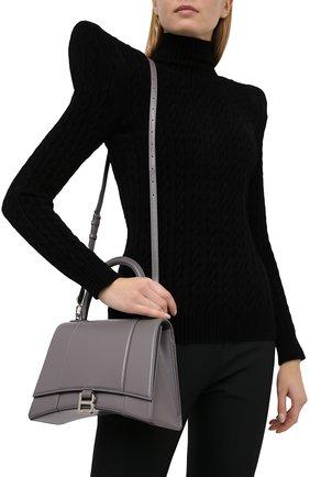 Женская сумка hourglass BALENCIAGA серого цвета, арт. 619668/1QJ4Y | Фото 5