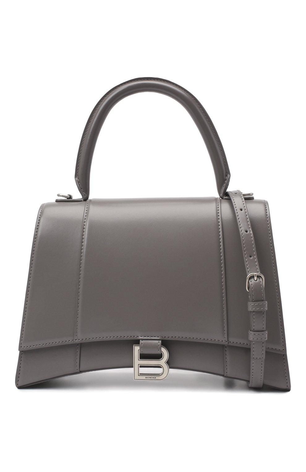 Женская сумка hourglass BALENCIAGA серого цвета, арт. 619668/1QJ4Y | Фото 6