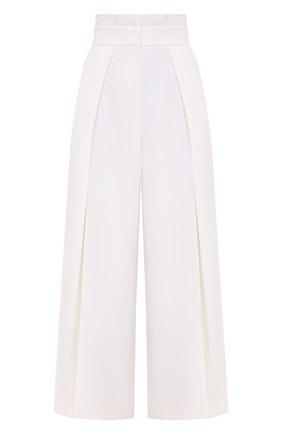 Женские шерстяные брюки ALEXANDER MCQUEEN белого цвета, арт. 633596/QJAAC   Фото 1