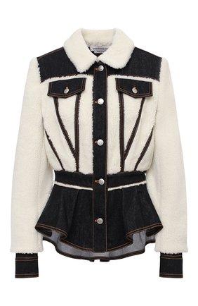 Женская куртка ALEXANDER MCQUEEN белого цвета, арт. 628313/QEACD | Фото 1