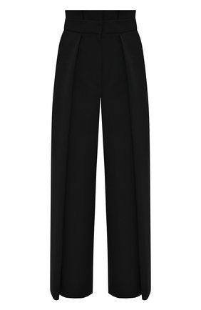 Женские шерстяные брюки ALEXANDER MCQUEEN черного цвета, арт. 627469/QJAAC   Фото 1