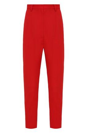 Женские шерстяные брюки ALEXANDER MCQUEEN красного цвета, арт. 585118/QJAAC   Фото 1