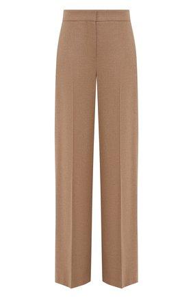 Женские шерстяные брюки ALEXANDER MCQUEEN бежевого цвета, арт. 583746/QKAAM   Фото 1