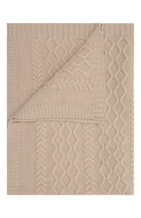 Детского шерстяное одеяло BABY T бежевого цвета, арт. 20AI162C0 | Фото 1