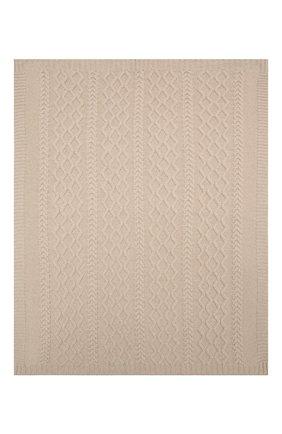 Детского шерстяное одеяло BABY T бежевого цвета, арт. 20AI162C0 | Фото 2