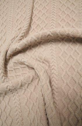 Детского шерстяное одеяло BABY T бежевого цвета, арт. 20AI162C0 | Фото 3 (Материал: Шерсть)