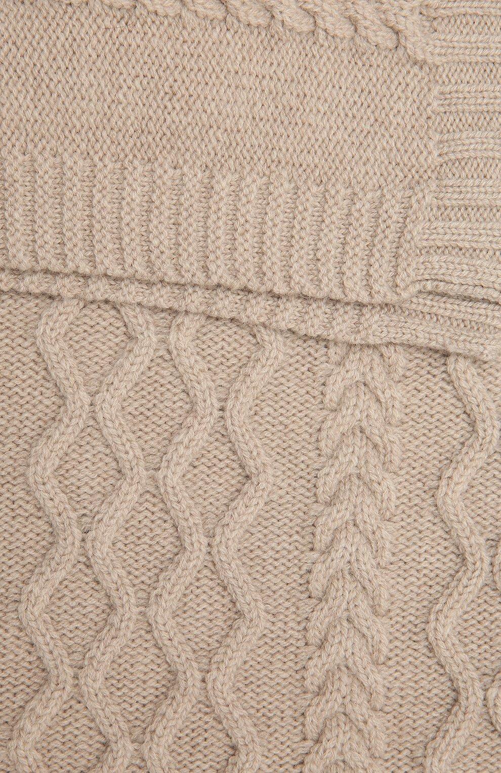 Детского шерстяное одеяло BABY T бежевого цвета, арт. 20AI162C0 | Фото 4 (Материал: Шерсть)