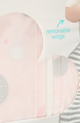 Детский хлопковый комбинезон LOVE TO DREAM розового цвета, арт. L20 02 085 PNK M | Фото 3