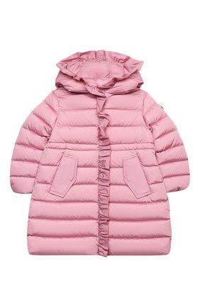 Детское пуховое пальто MONCLER светло-розового цвета, арт. F2-954-1C508-10-54155/4-6A | Фото 1