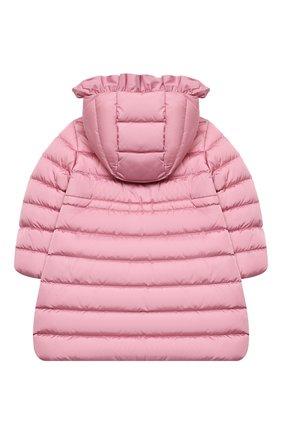 Детское пуховое пальто MONCLER светло-розового цвета, арт. F2-954-1C508-10-54155/4-6A | Фото 2