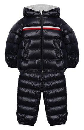 Детского комплект из куртки и комбинезона MONCLER темно-синего цвета, арт. F2-951-1F501-20-68950 | Фото 1