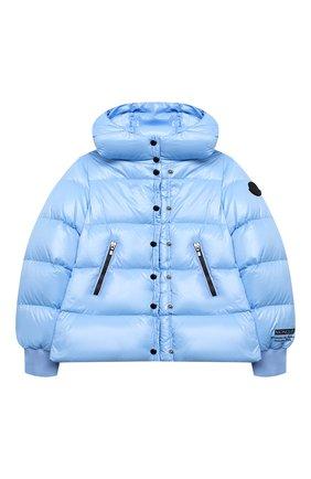Детского пуховая куртка MONCLER голубого цвета, арт. F2-954-1A534-10-68950/4-6A | Фото 1