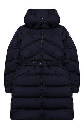 Детское пуховое пальто MONCLER темно-синего цвета, арт. F2-954-1C509-10-C0068/12-14A | Фото 1