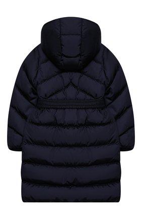 Детское пуховое пальто MONCLER темно-синего цвета, арт. F2-954-1C509-10-C0068/12-14A | Фото 2