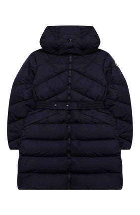 Детское пуховое пальто MONCLER темно-синего цвета, арт. F2-954-1C509-10-C0068/4-6A | Фото 1