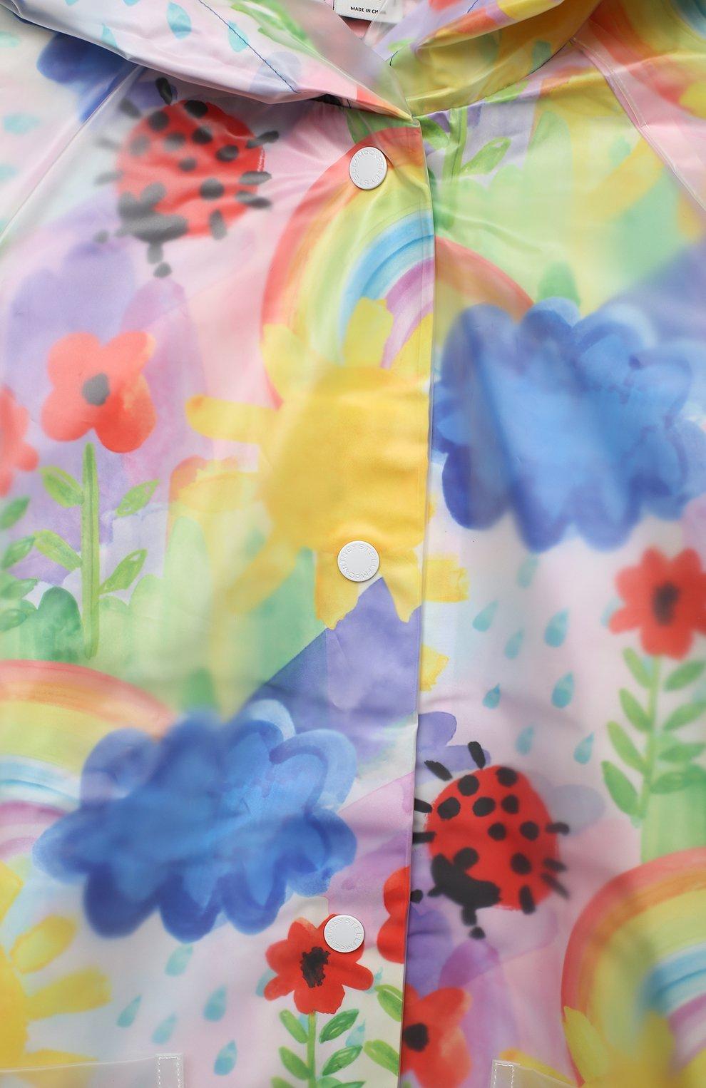 Детский дождевик STELLA MCCARTNEY разноцветного цвета, арт. 601264/SPK92   Фото 3