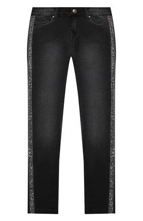 Детские джинсы KARL LAGERFELD KIDS темно-серого цвета, арт. Z14133 | Фото 1
