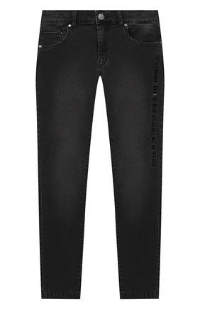 Детские джинсы KARL LAGERFELD KIDS серого цвета, арт. Z24105   Фото 1
