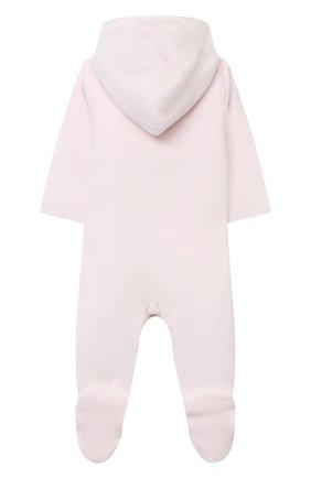 Детский хлопковый комбинезон KISSY KISSY розового цвета, арт. KGN04829N | Фото 2