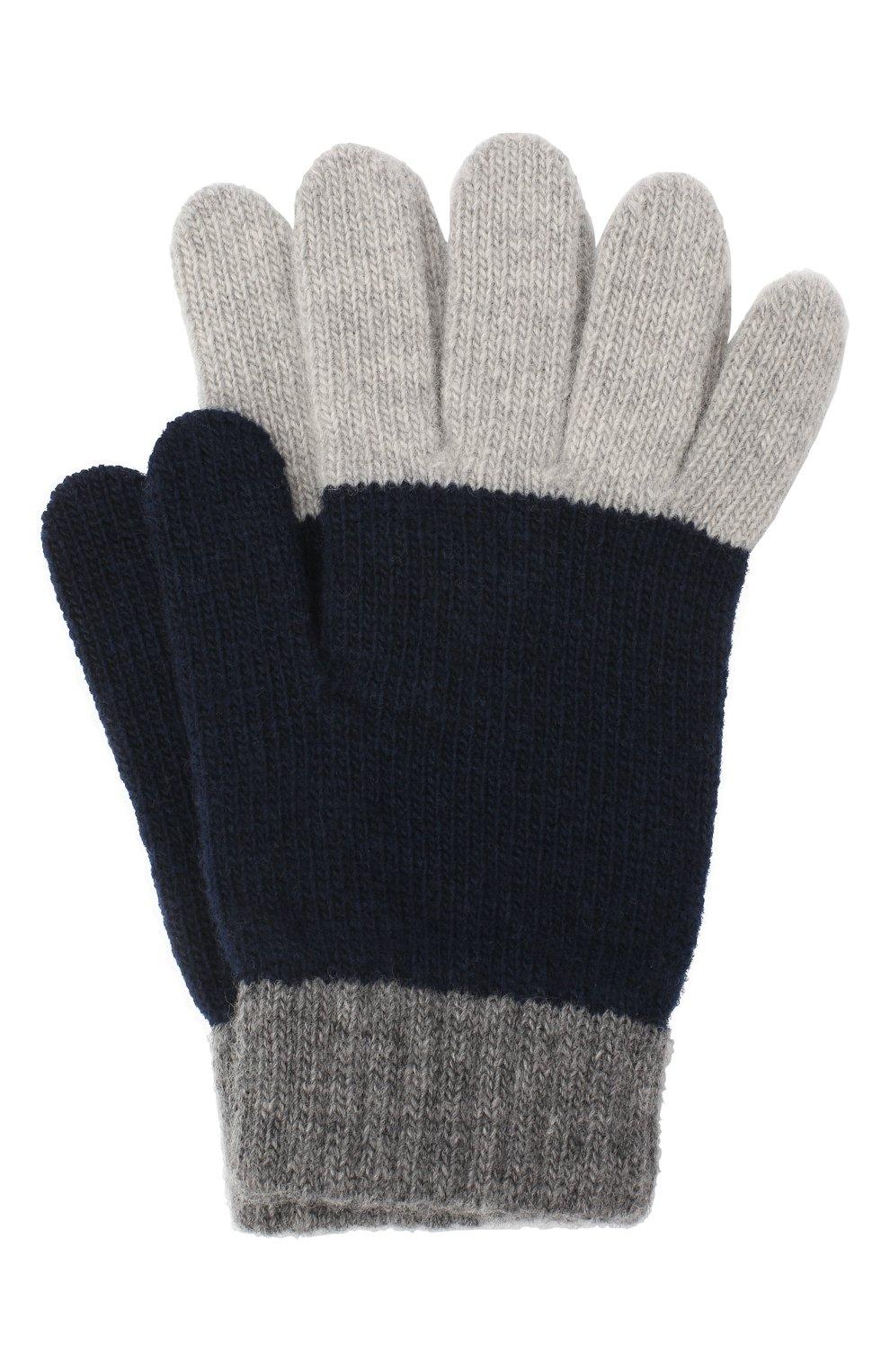 Детские шерстяные перчатки IL GUFO серого цвета, арт. A20GS019EM220 | Фото 1