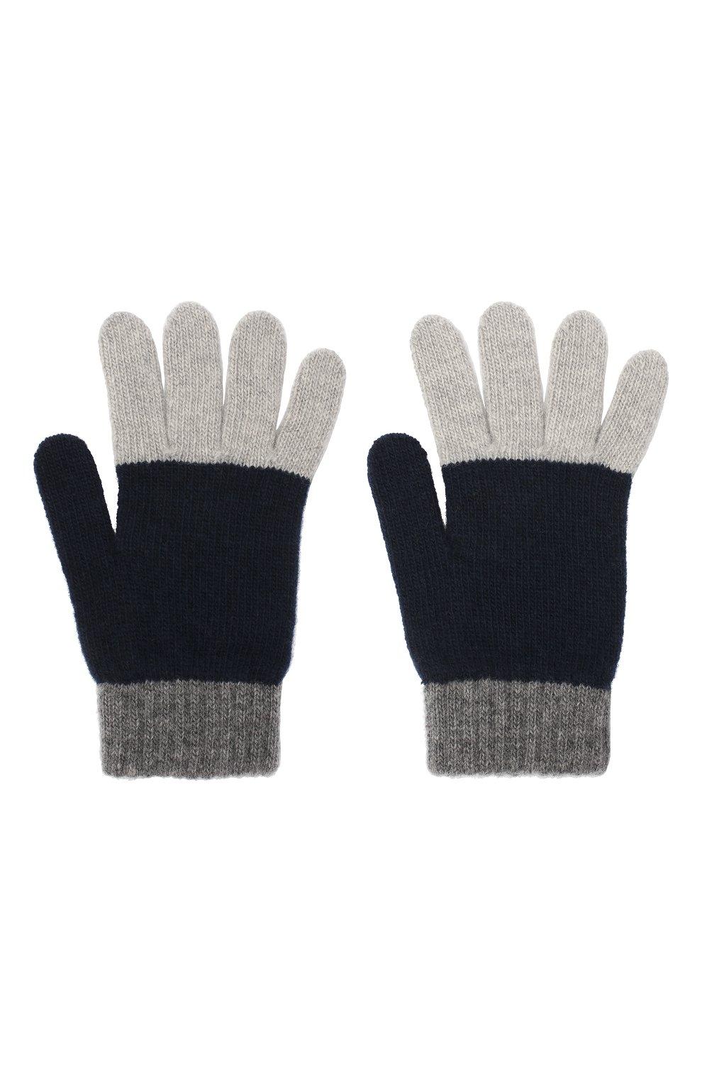 Детские шерстяные перчатки IL GUFO серого цвета, арт. A20GS019EM220 | Фото 2