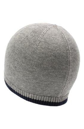 Детского шапка из шерсти и хлопка RALPH LAUREN серого цвета, арт. 322800028   Фото 2