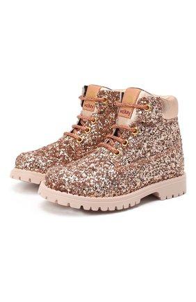 Детские ботинки WALKEY розового цвета, арт. Y1A4-41133-1151/25-29 | Фото 1