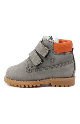 Детские кожаные ботинки WALKEY серого цвета, арт. Y1B4-40015-0415/19-24 | Фото 2
